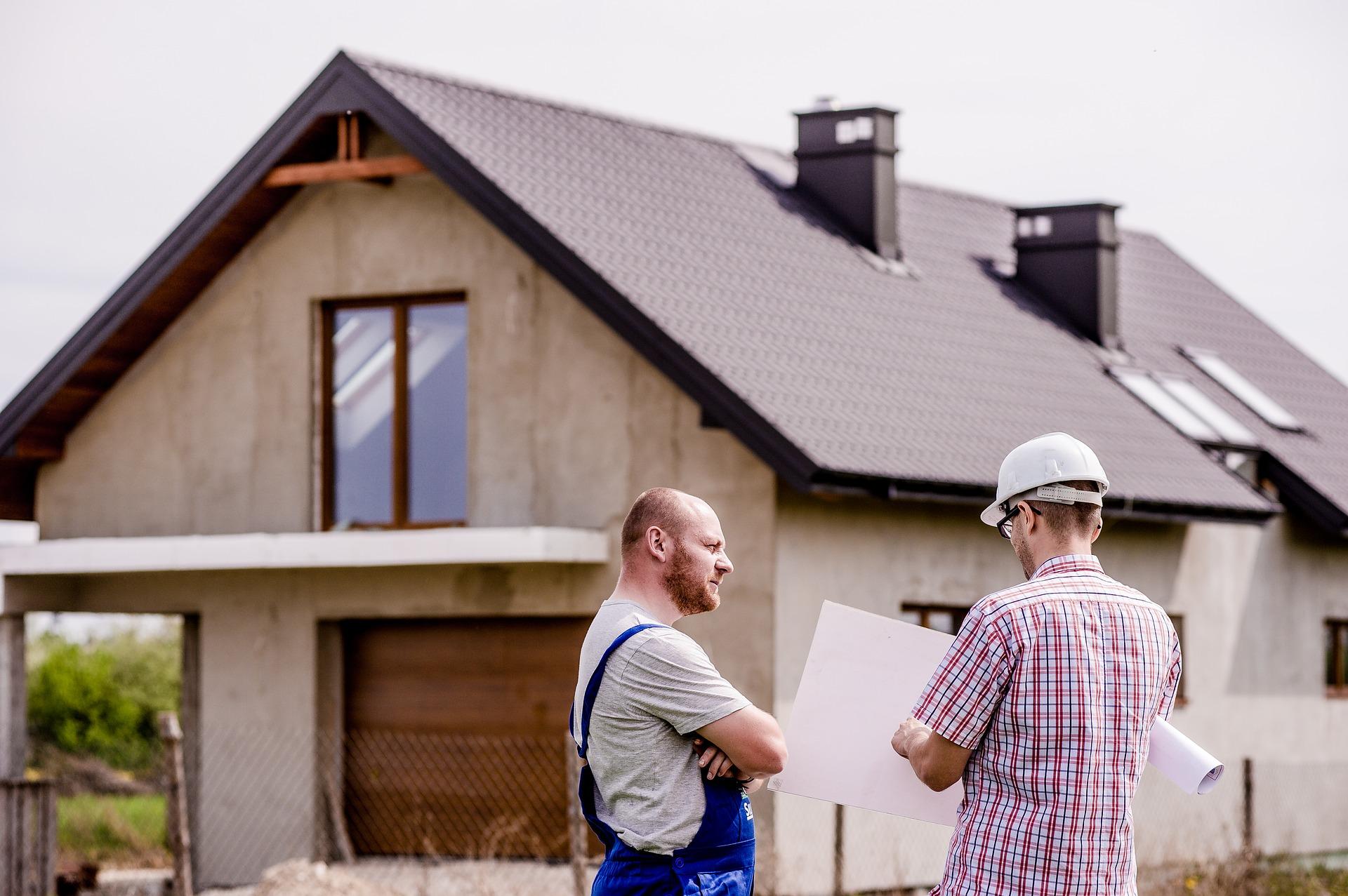 men talking house electrician